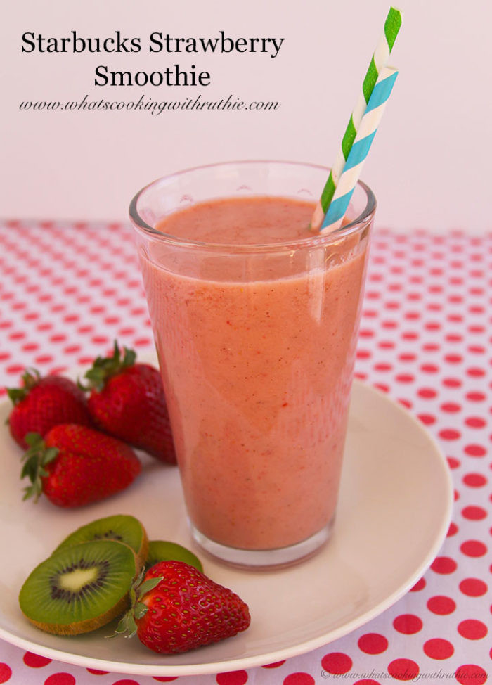 Starbucks Healthy Smoothies  Starbucks Strawberry Smoothie Cooking With Ruthie