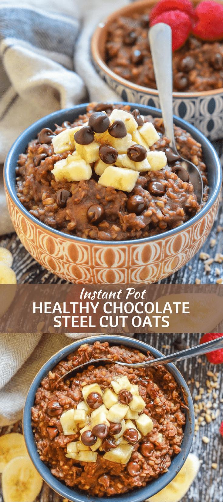 Steel Cut Oats Healthy  Healthy Chocolate Instant Pot Steel Cut Oats A Virtual Vegan