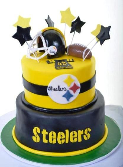 Steeler Wedding Cakes  105 best Pittsburgh Steelers Birthday Cakes images on