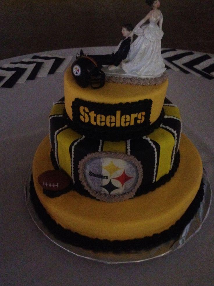 Steeler Wedding Cakes  Pin Grooms Steelers Cake Weddingbee Gallery Cake on