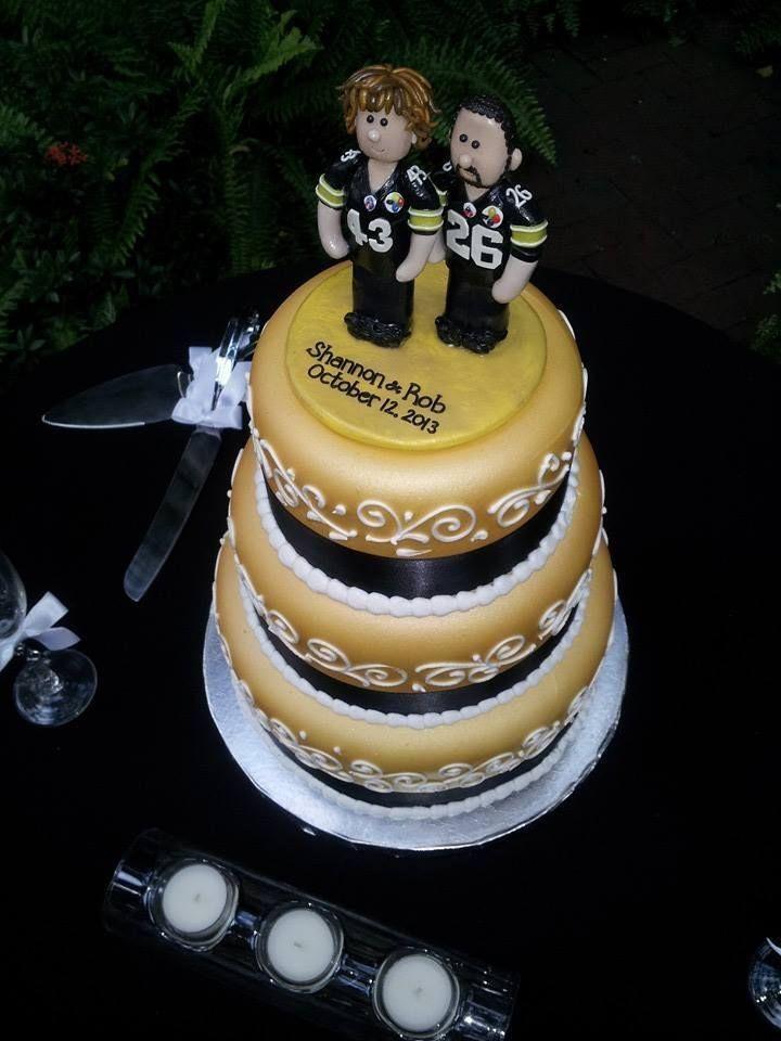 Steeler Wedding Cakes  Pin Steelers Wedding Cake Cake on Pinterest