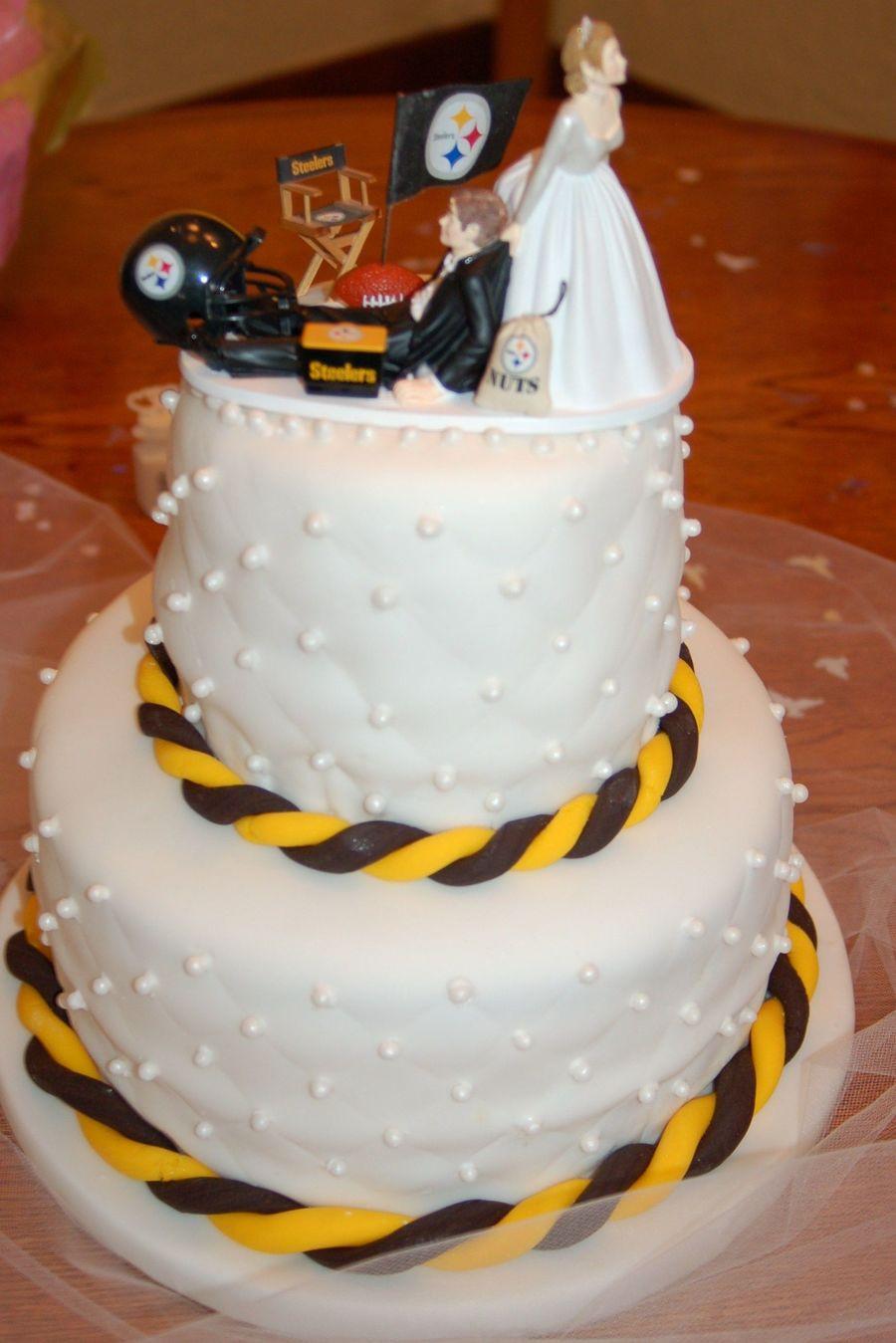 Steeler Wedding Cakes  Steeler Wedding Cake CakeCentral