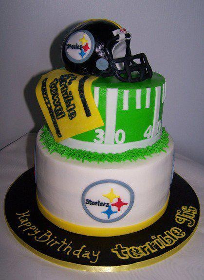 Steeler Wedding Cakes  17 Best images about Pittsburgh Steelers Birthday Cakes on