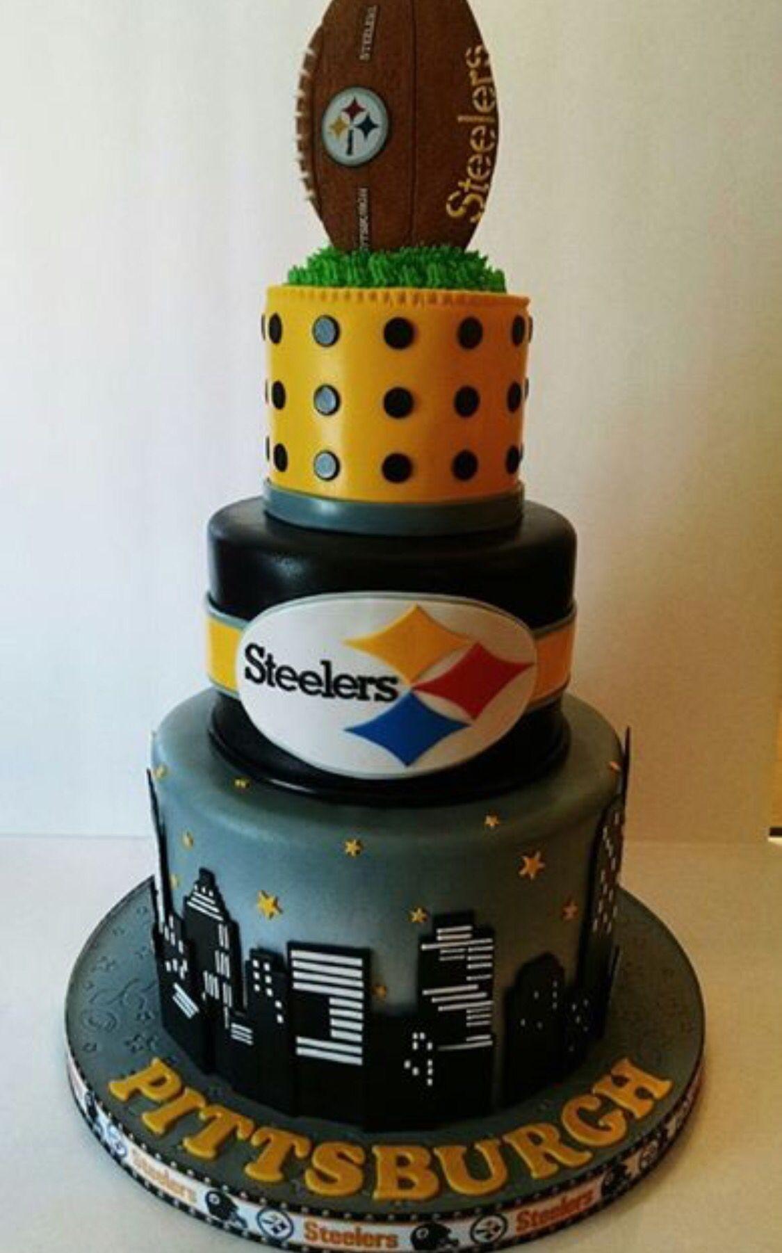 Steeler Wedding Cakes  Steelers cake Cakes Pinterest