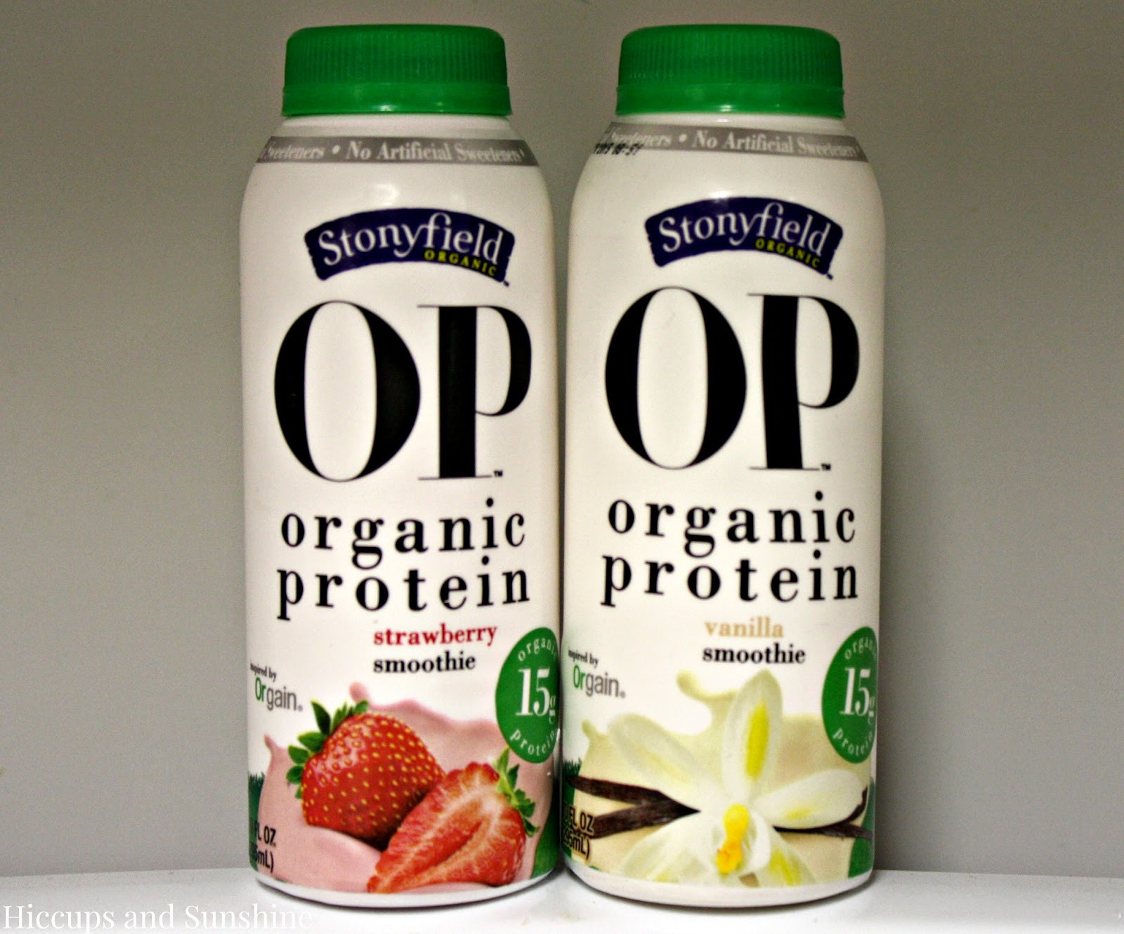 Stonyfield Organic Smoothies  Hiccups and Sunshine Stonyfield OP Organic Protein