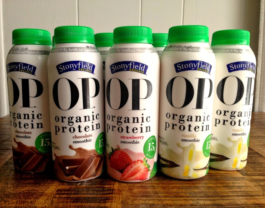 Stonyfield Organic Smoothies  Stonyfield OP Organic Protein Smoothies StonyfieldBlogger