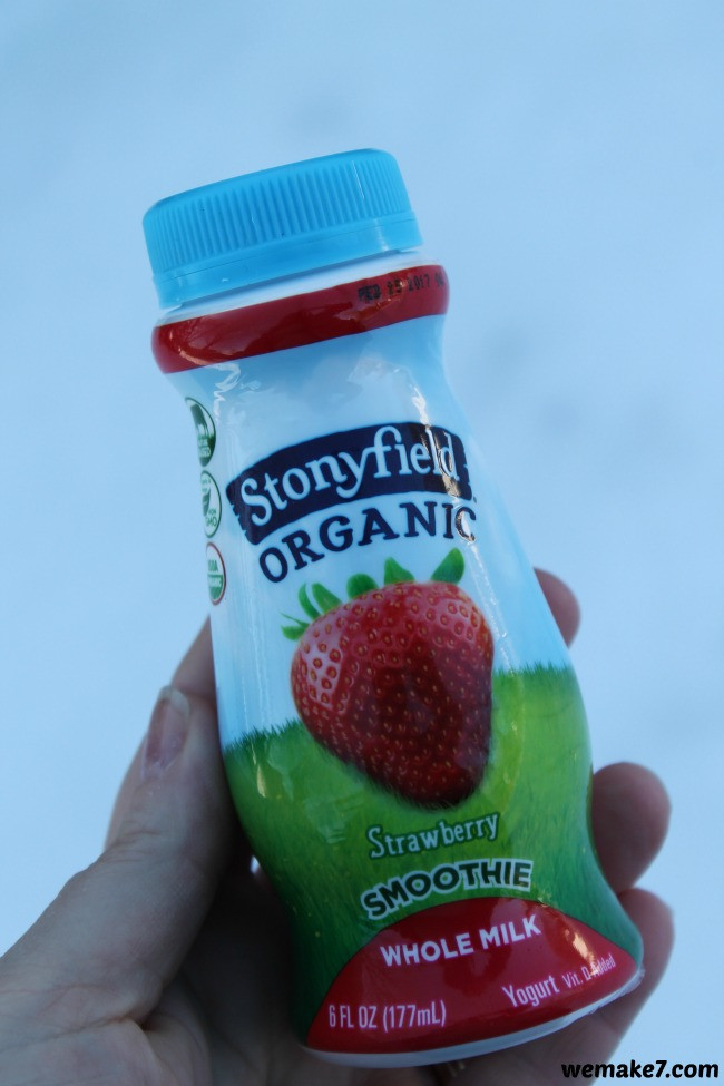 Stonyfield Organic Smoothies  the go with Stonyfield s new Whole Milk Smoothies WEMAKE7