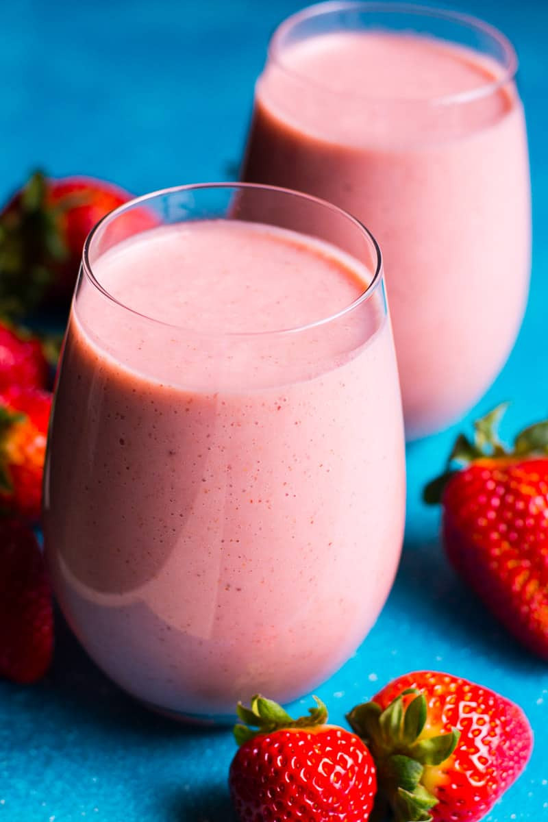 Strawberry Smoothie Recipes Healthy  Strawberry Smoothie Recipe iFOODreal Healthy Family