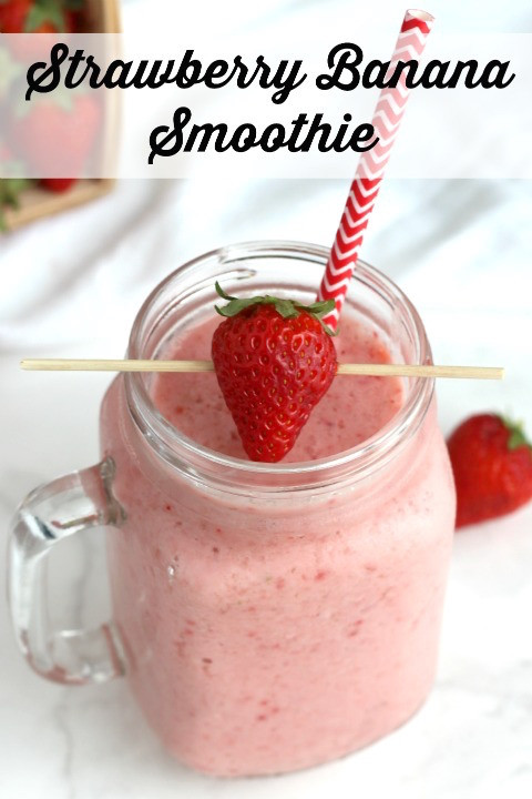 Strawberry Smoothie Recipes Healthy  Classic Strawberry Banana Smoothie Two Healthy Kitchens