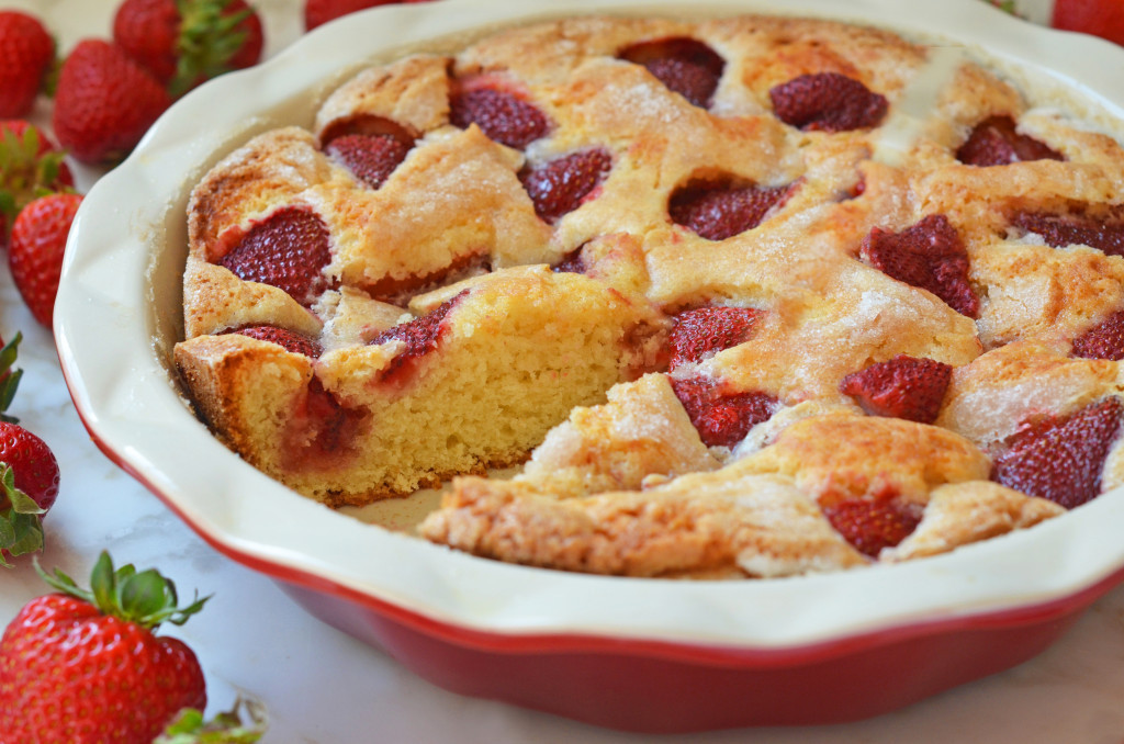 Strawberry Summer Cake  Simple Summer Strawberry Cake ce Upon a Chef