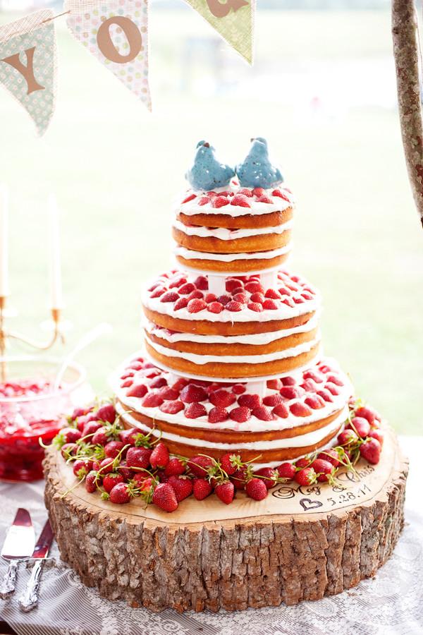 Strawberry Wedding Cake Recipe  it