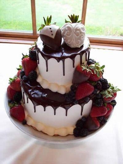 Strawberry Wedding Cake Recipe  Chocolate Wedding Cakes