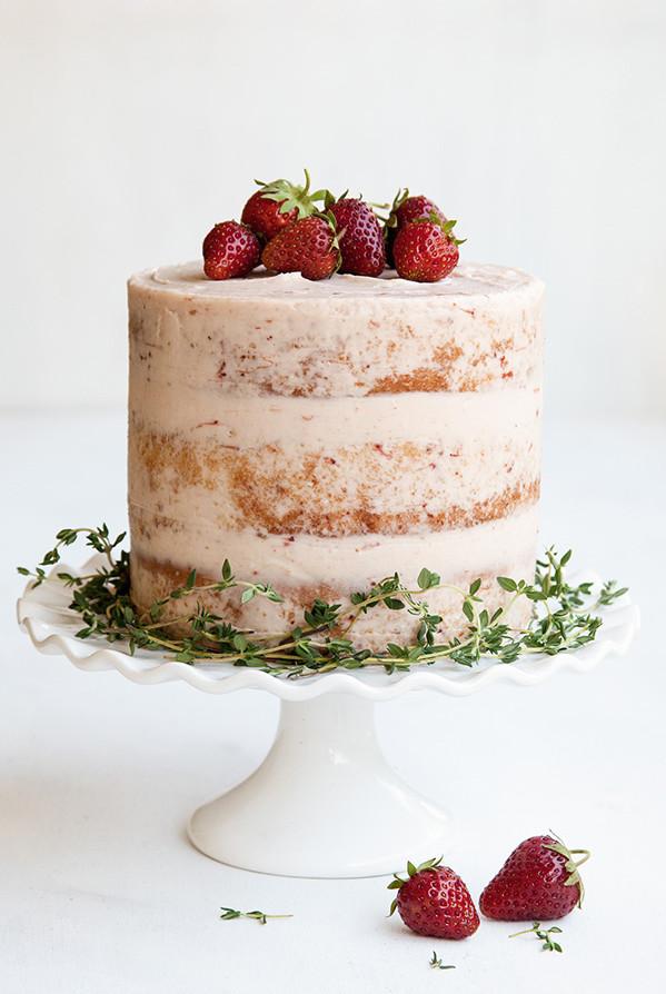 Strawberry Wedding Cake Recipe  Strawberry & Thyme wedding cake Wedding Album