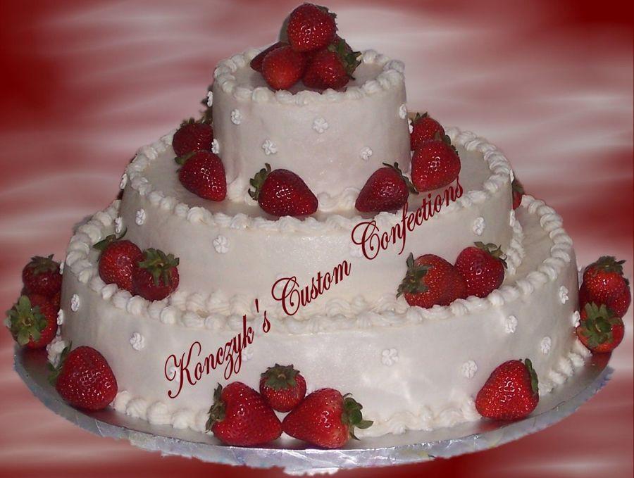Strawberry Wedding Cake Recipe  Strawberry Wedding Cake CakeCentral