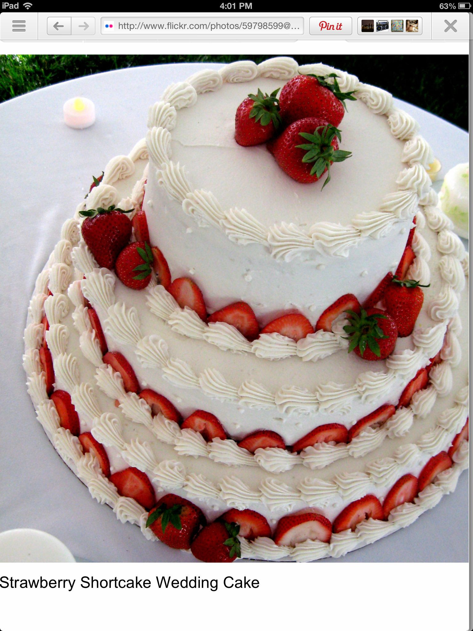 Strawberry Wedding Cake Recipe  Strawberry wedding cake Renee Hyde Caitlin Robinson