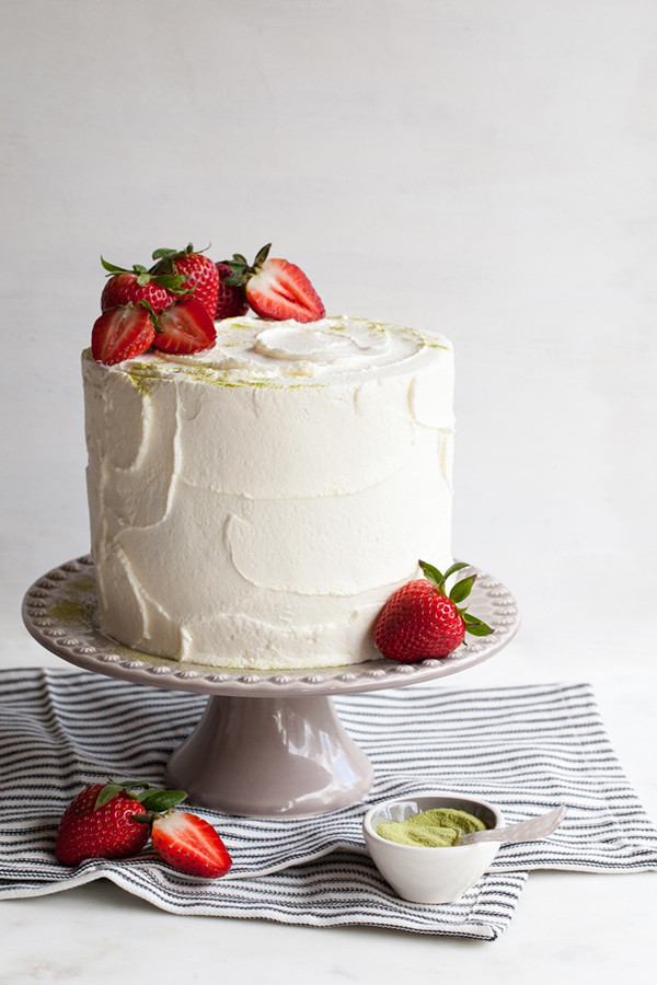 Strawberry Wedding Cake Recipes  Matcha Strawberry Cake