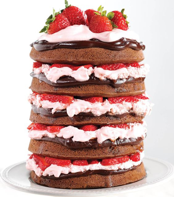 Strawberry Wedding Cake Recipes  Naked Chocolate Covered Strawberry Cake Recipe from