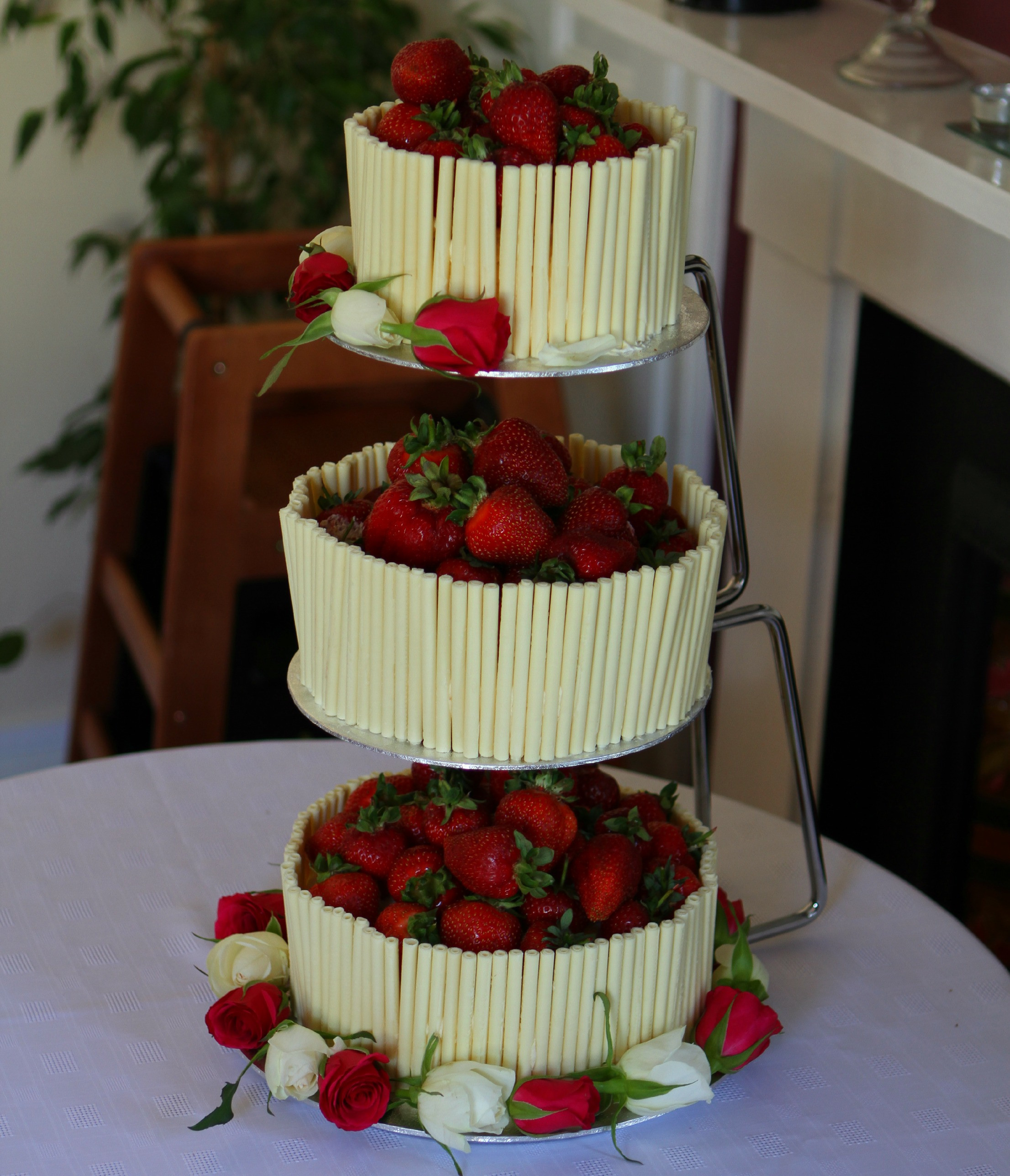 Strawberry Wedding Cake Recipes  Strawberry and White Chocolate Wedding Cake with an
