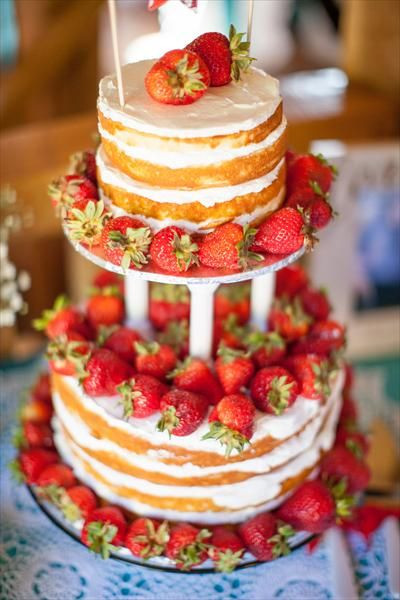 Strawberry Wedding Cake Recipes  strawberry shortcake wedding cake wedding cake