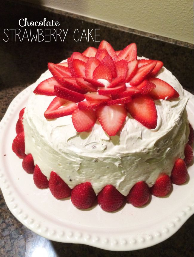 Strawberry Wedding Cake Recipes  Chocolate Strawberry Cake Desserts Pinterest