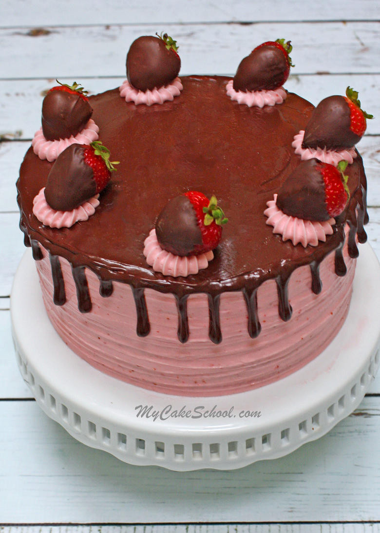 Strawberry Wedding Cake Recipes  Chocolate Covered Strawberry Cake