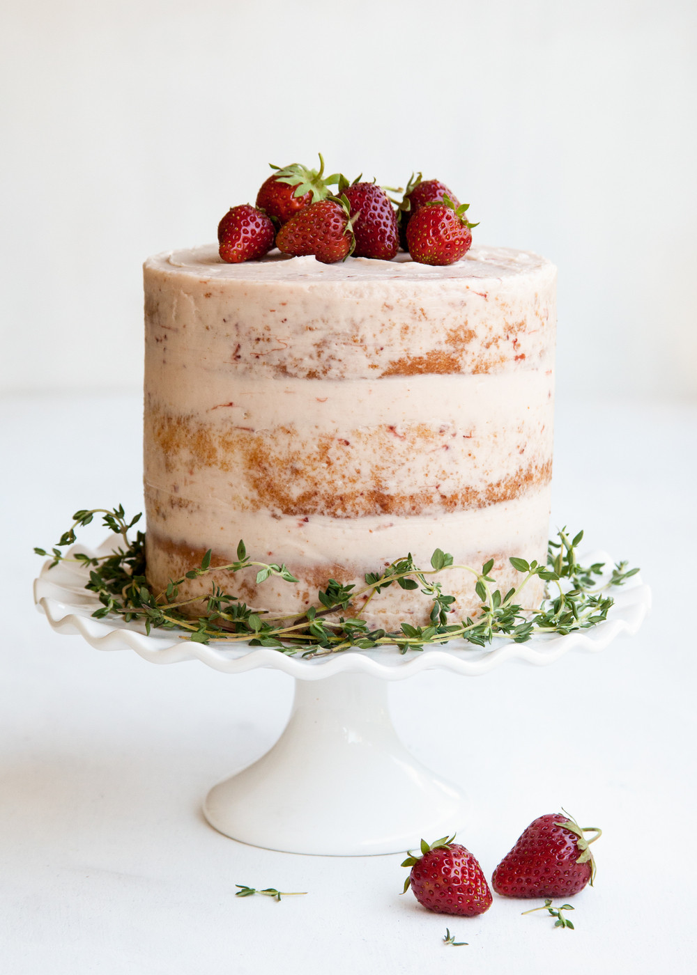 Strawberry Wedding Cake Recipes  Strawberry Thyme Cake — Style Sweet CA