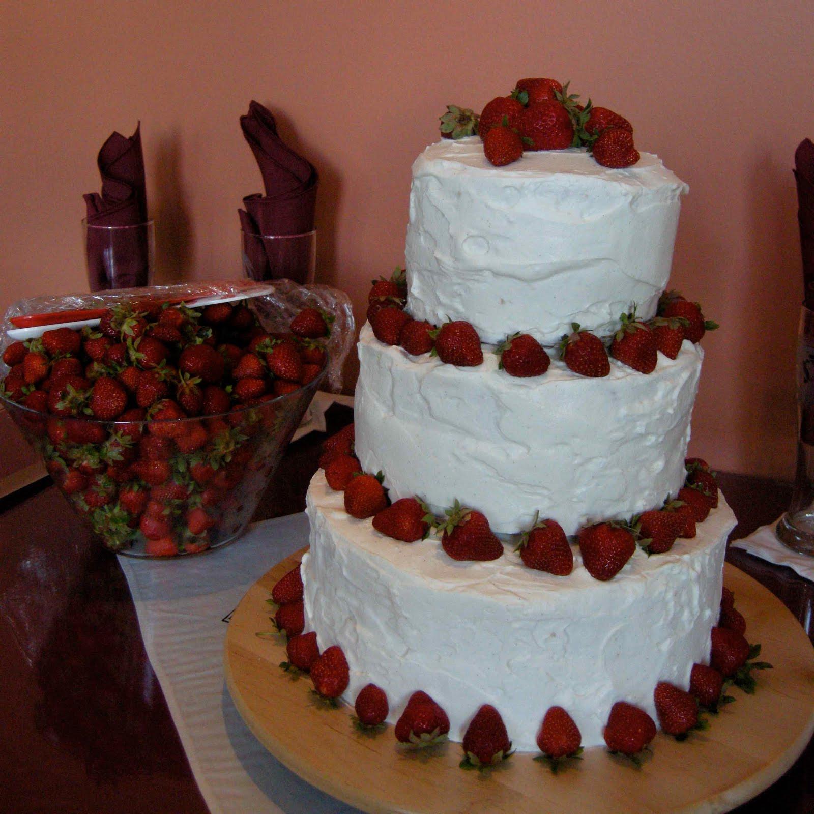 Strawberry Wedding Cake  Mary Mary Culinary Strawberry wedding cake