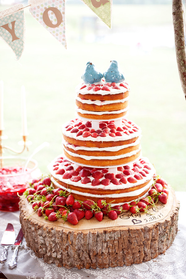 Strawberry Wedding Cake  it