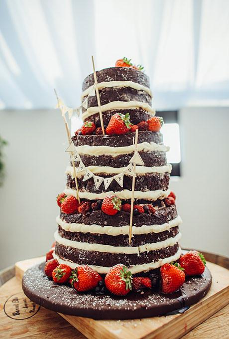 Strawberry Wedding Cake  Simple Wedding Cakes