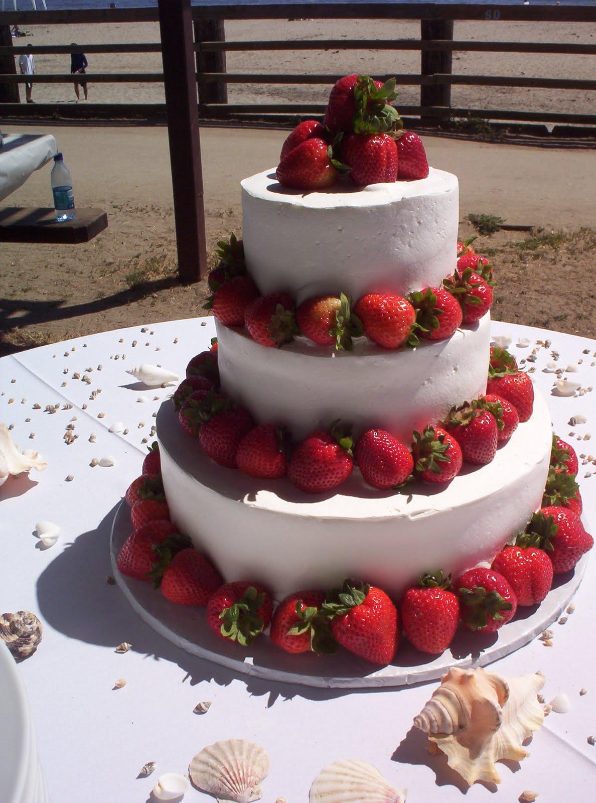 Strawberry Wedding Cake  Wedding Cakes White Wedding Cakes With Chocolate