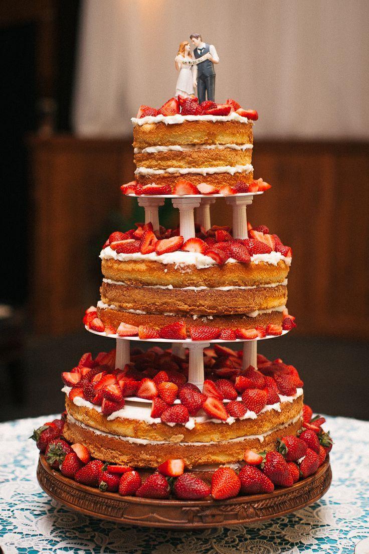 Strawberry Wedding Cakes  Strawberry shortcake wedding cake idea in 2017