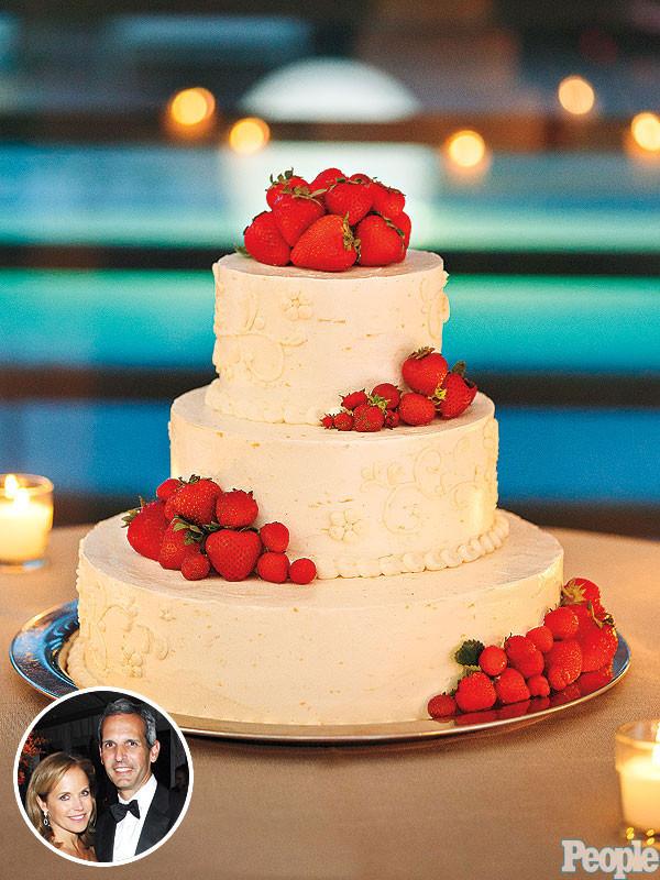 Strawberry Wedding Cakes  Katie Couric & John Molner s Strawberry Lemon Wedding Cake