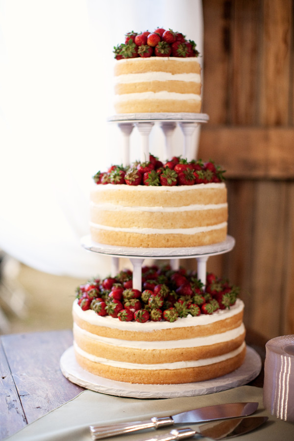 Strawberry Wedding Cakes  it