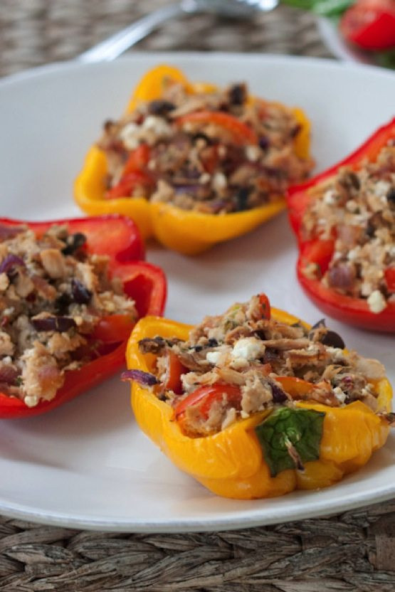 Stuffed Bell Peppers Healthy  Healthy Tuna Stuffed Bell Peppers Eating Bird Food