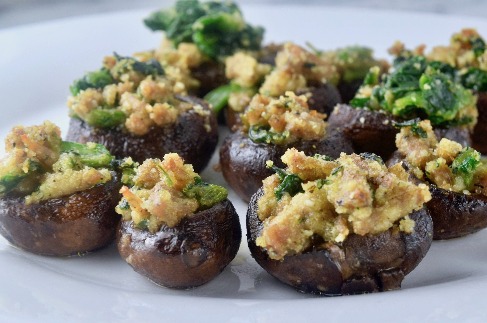Stuffed Mushrooms Healthy  Healthy Cheesy Stuffed Mushrooms 3 Ways Simple