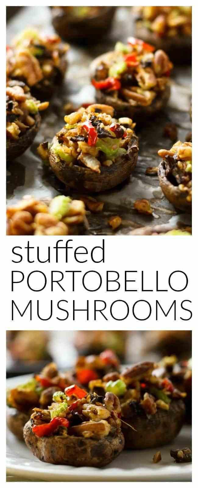Stuffed Portabella Mushrooms Healthy  Vegan Stuffed Portobello Mushrooms
