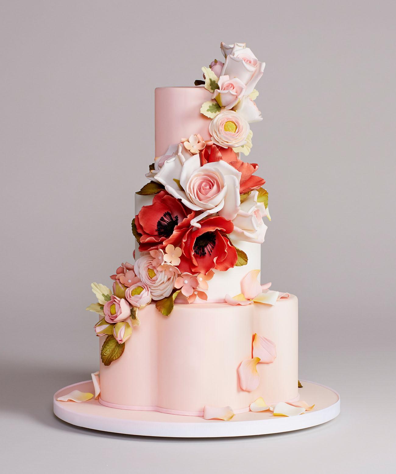 Stunning Wedding Cakes  Bottega Louie s Stunning Wedding Cake Collection Green