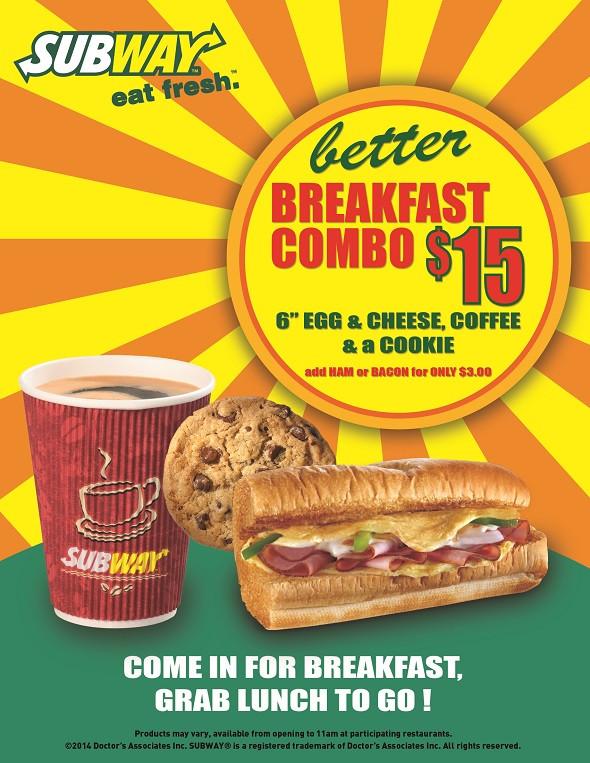 Subway Healthy Breakfast  Antigua Restaurant Subway s Better Breakfast bo
