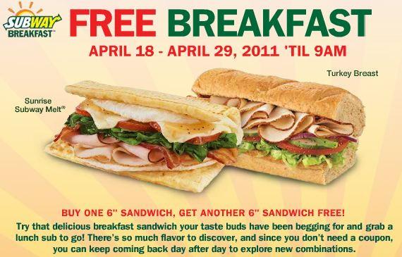 Subway Healthy Breakfast  All You Need Subway Breakfast