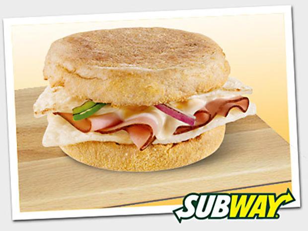 Subway Healthy Breakfast  8 Western egg white & cheese muffin melt Subway