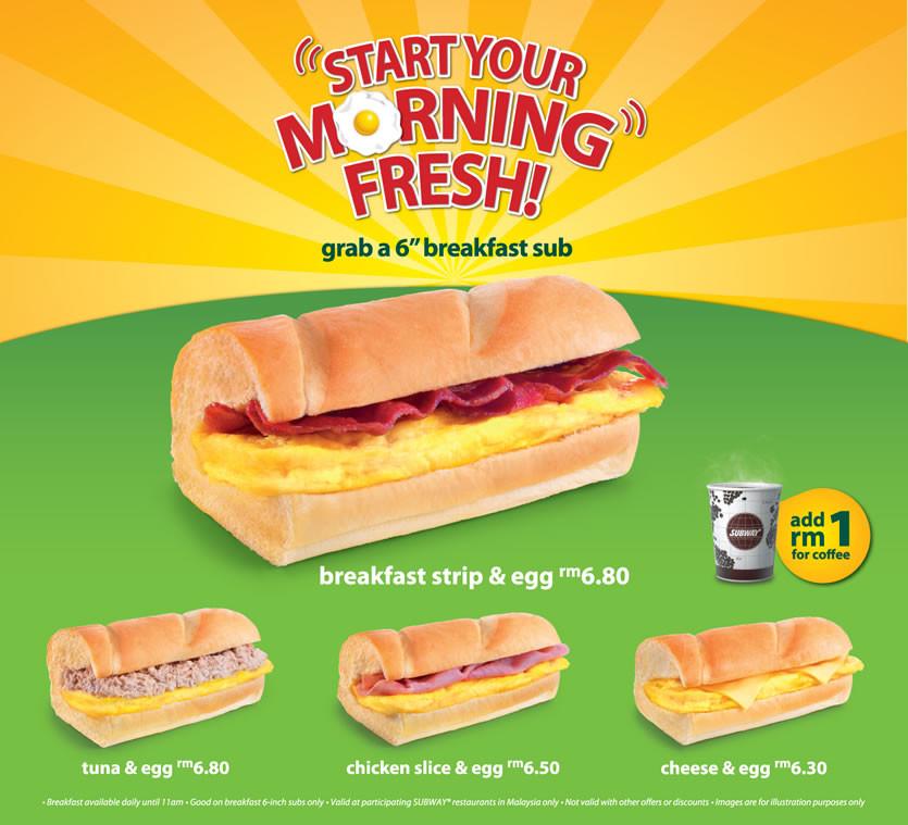 Subway Healthy Breakfast  Subway Malaysia Slammed For No Veggies Breakfast Subs