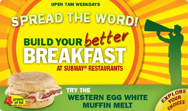 Subway Healthy Breakfast  The Happy Runner Reviews Subway breakfast review and