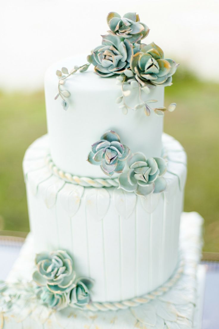 Succulent Wedding Cakes  A Nature Inspired Wedding Succulent Wedding Theme