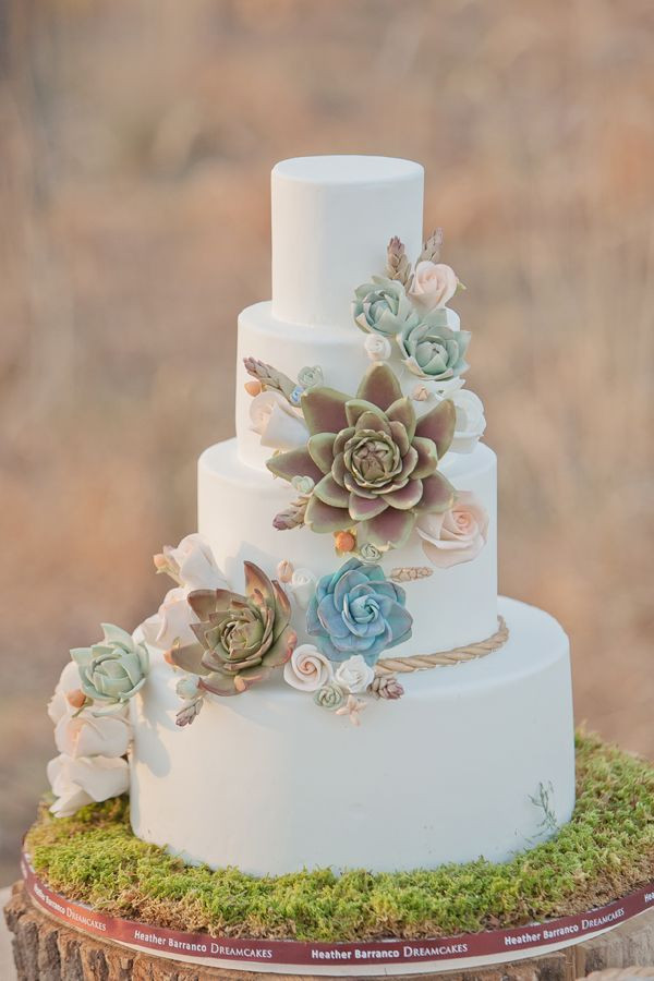Succulent Wedding Cakes  35 Succulent Wedding Ideas for Your Big Day