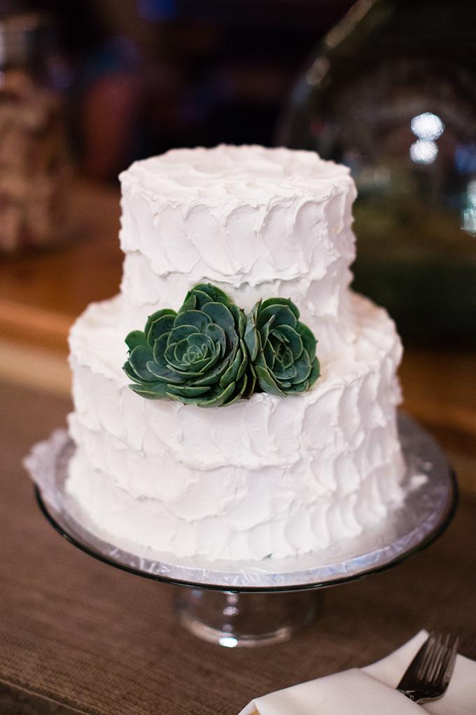 Succulent Wedding Cakes  A Rustic Succulent California Wedding