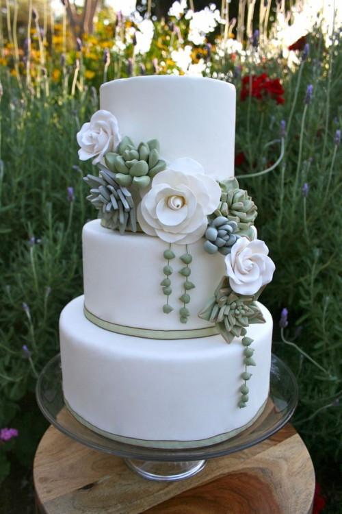 Succulent Wedding Cakes  The Hottest 2015 Wedding Trend 42 Succulent Wedding Cakes