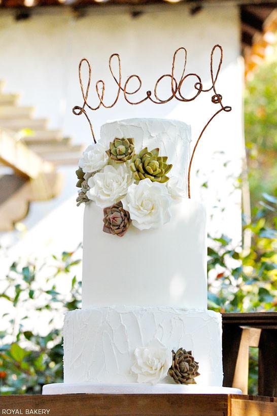 Succulent Wedding Cakes  Succulent Wedding Cake