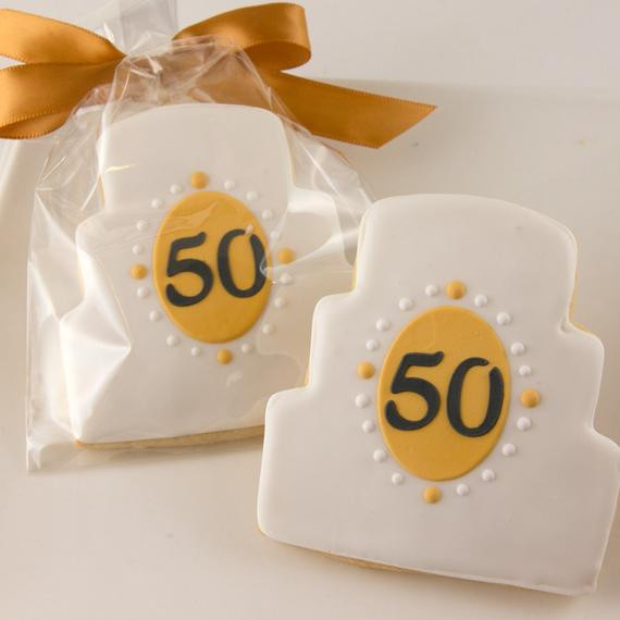 Sugar Cookies Wedding Favors  Anniversary Cookies Wedding Cake Cookies 12 Decorated