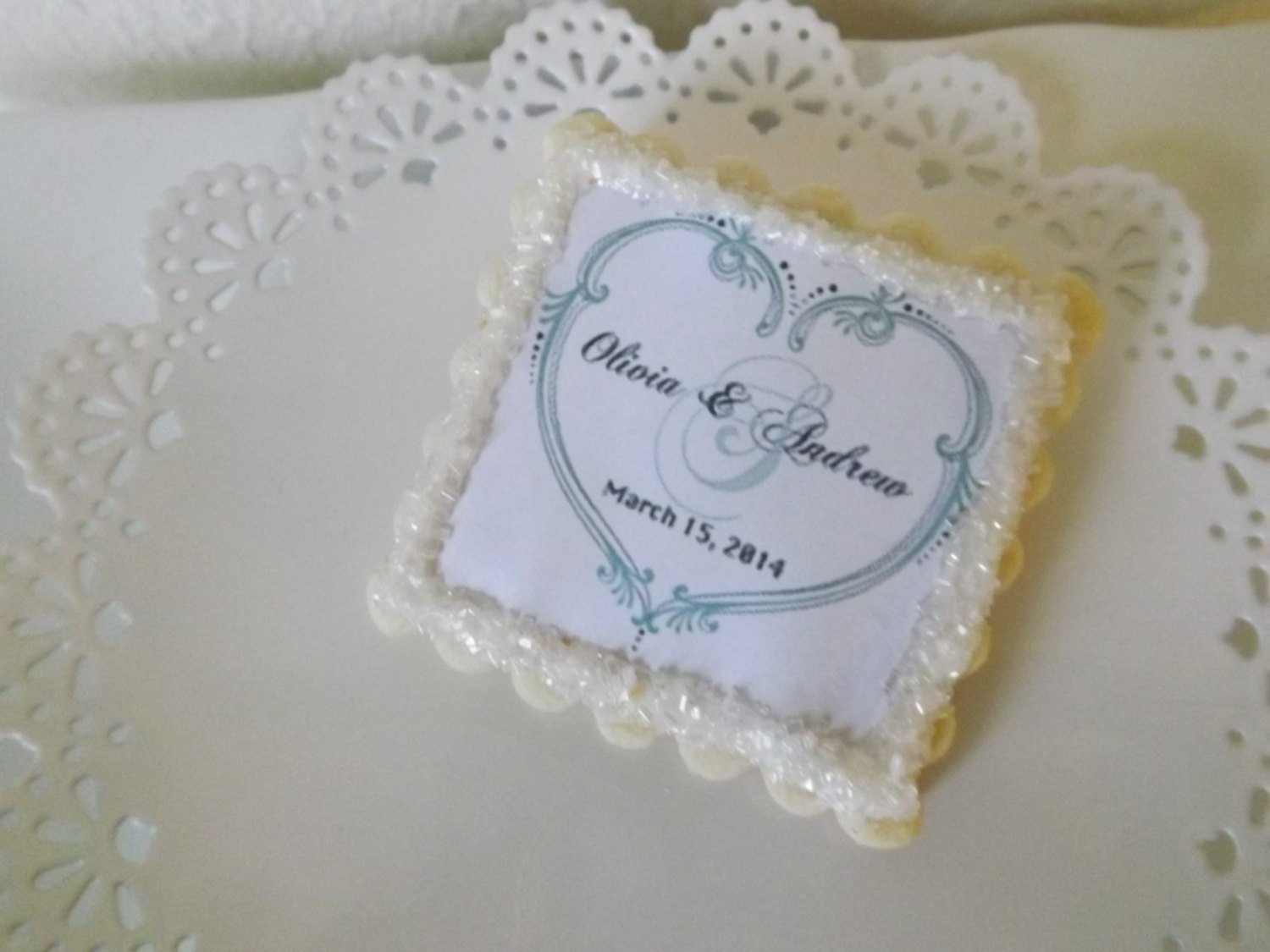 Sugar Cookies Wedding Favors  Personalized Wedding Favors Sugar Cookies by NeverGrowUpBakery