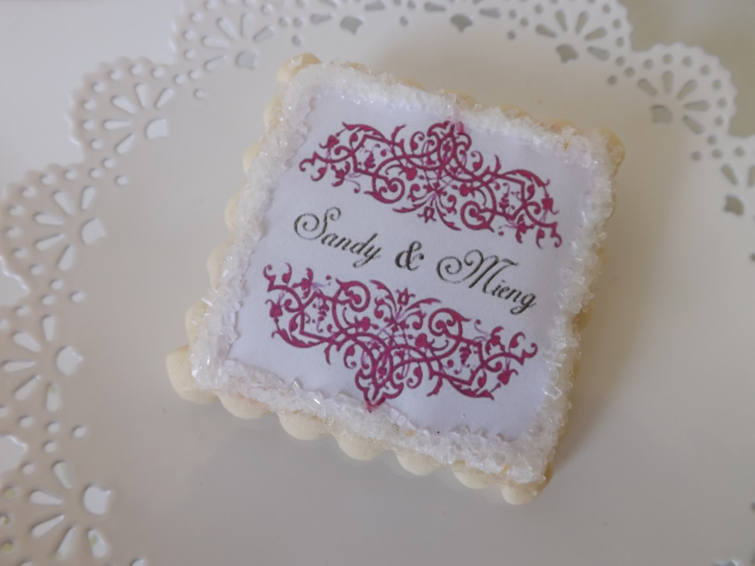 Sugar Cookies Wedding Favors  Sugar Cookie Wedding Favors Personalized Bridal Shower Favors